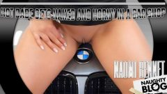 Naomi Bennet – Hot Babe Gets Naked and Horny in a Car Service + VR