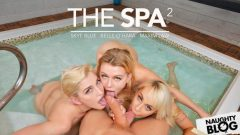 Belle O'Hara, Skye Blue & Maxim Law – Belle O'Hara, Maxim Law, and Skye Blue share a big cock at the spa – VR